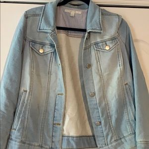 Soft jean jacket! Light wash denim